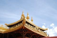 Goldentop. Tibet lhase jokhoang temples jinding Royalty Free Stock Photos