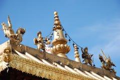 Goldentop. Tibet lhase jokhoang temples jinding Royalty Free Stock Images