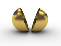 Golder halfsphere Royalty-vrije Stock Foto's