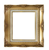 Golder photo frame. Isolate vintage photo frame for background Stock Images