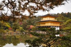 The goldern pavilion, Kinkakuji temple in Kyoto, Japan Stock Photography