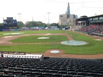 Goldeyes de Winnipeg contre Sioux City Explorers Photo stock