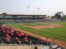 Goldeyes de Winnipeg contre Sioux City Explorers Photographie stock
