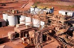 Goldförderung Stockbild