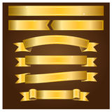 Goldfahnen - Illustration Lizenzfreie Stockfotografie