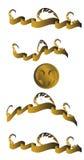 Goldfahnen und -medaille Stockbilder