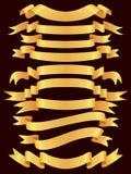 Goldfahnenset lizenzfreie abbildung