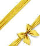 Goldfarbband und -bogen getrennt auf weißem Hintergrund vektor abbildung