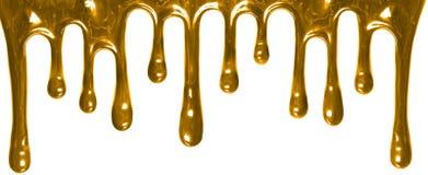 Goldfarbenlecken lokalisiert auf Weiß Lizenzfreie Stockfotografie