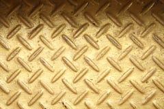 Goldfarbstahldiamantplatte lizenzfreie stockfotos