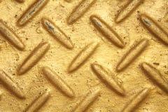 Goldfarbstahldiamantplatte lizenzfreie stockbilder