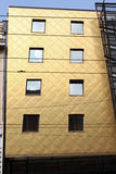 Goldfassade Stockfoto
