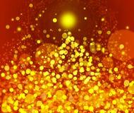 Goldfestlicher Weihnachtshintergrund Stockfotografie