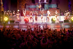 Goldfieber-Amnesie Ibiza Festival in Moskau Lizenzfreie Stockfotografie