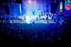 Goldfieber-Amnesie Ibiza Festival in Moskau Lizenzfreie Stockbilder