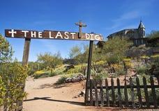 Goldfield鬼城为时开掘公墓,亚利桑那 免版税库存照片
