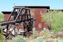 Goldfield鬼城和矿 免版税库存照片