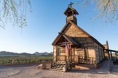Goldfield Ghost Town Chapel stock image