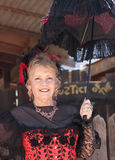 A Goldfield Ghost Town Lady in Red, Arizona Stock Images