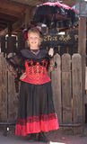A Goldfield Ghost Town Lady in Red, Arizona Stock Photo