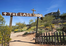 A Goldfield Ghost Town Last Dig Cemetery, Arizona Royalty Free Stock Photo