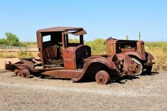 Goldfield Ghost Town and Mine Stock Photo