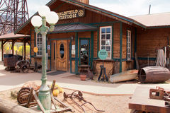 Goldfield Old Western Mining Ghost Town. Crooked old wild west buildings Royalty Free Stock Images