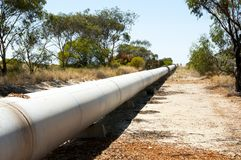 Goldfields Water Pipeline. Western Australia royalty free stock images