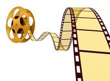Goldfilm-Streifen Stockfoto