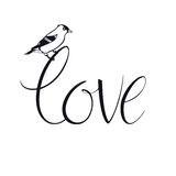 Goldfinch Love Design card Stock Photos