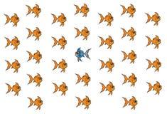 Goldfisch, der unterschiedlich ist lizenzfreie abbildung