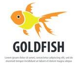Goldfischlogo Stockfoto