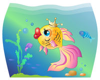 Goldfish σε ένα ενυδρείο ελεύθερη απεικόνιση δικαιώματος