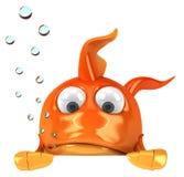 Goldfish. Fun 3D goldfish, 3d generated picture Stock Images
