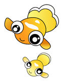 Goldfish. Two goldfish is located on White background. Vector Illustration Royalty Free Stock Images