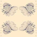 Goldfish royalty illustrazione gratis
