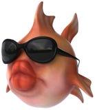 Goldfish avec des lunettes de soleil Images stock