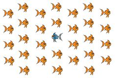 Goldfish being different royalty free stock photography