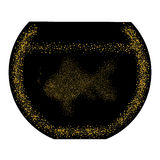Goldfish in bowl.Abstract illustration.Gold glitter composed. Royalty Free Stock Photography