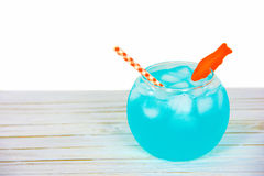 Goldfish bowl cocktail Royalty Free Stock Images