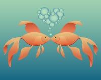 goldfish całowanie Zdjęcia Royalty Free