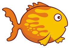 Goldfish cartoon Royalty Free Stock Photos
