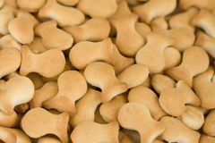 Goldfish crackers background Stock Photos