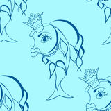 Goldfish with crown Stock Photo