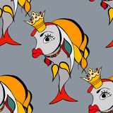 Goldfish with crown Royalty Free Stock Images