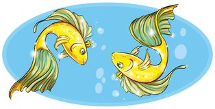 Goldfish in the crown Royalty Free Stock Images