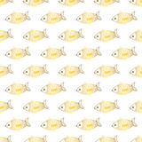 Goldfish cute doodle vector seamless pattern. Fun animals. Pisces fish Stock Photo