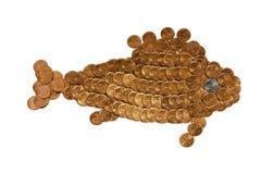 Goldfish dalle monete Fotografia Stock