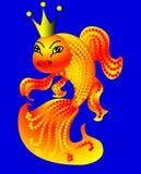 Goldfish dans la corona Image stock