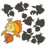 Goldfish de dessin animé Photo libre de droits